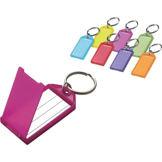 Lucky Line Assorted Transparent Colors 2-1/4 In. I.D. Key Tag with Ring, (2-Pack)